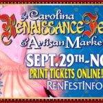 Carolina Renaissance Festival Returns 9/29 through 11/18